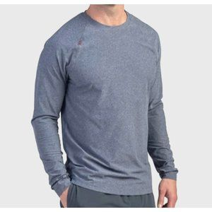 RHONE reign long sleeve tee heather gray